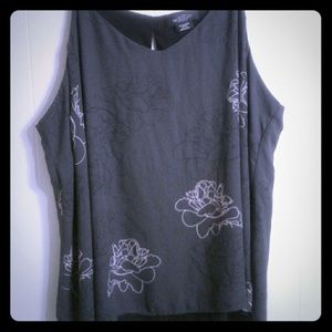 Michel Studio| Reversible black with flower print